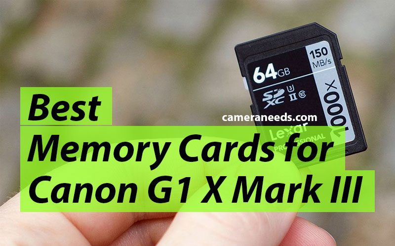 Best Memory Cards for Canon PowerShot G1 X Mark III