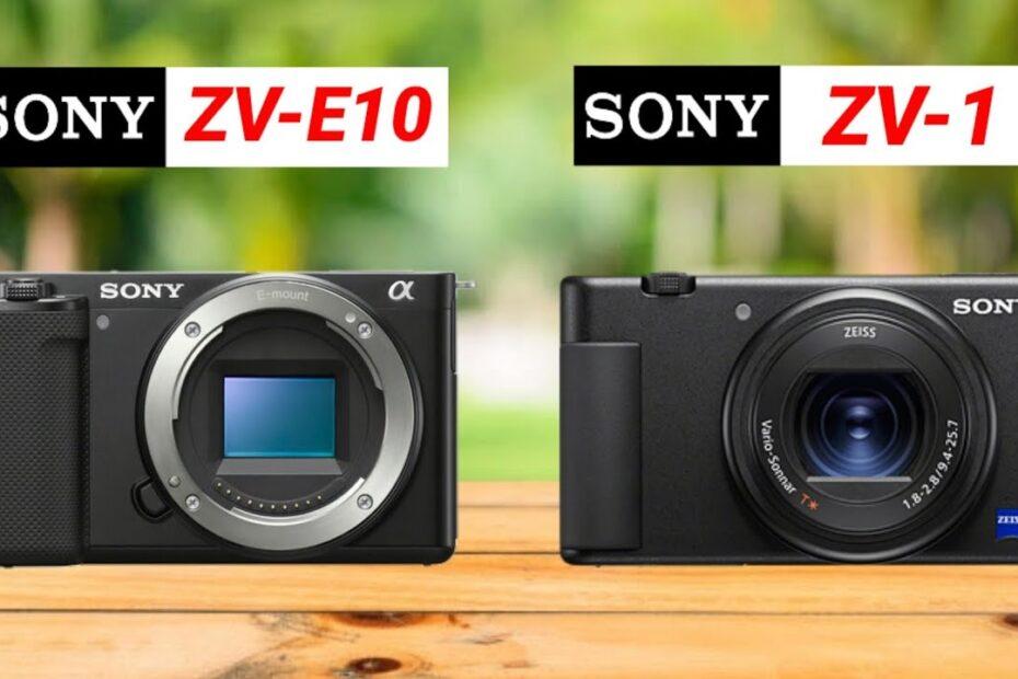 Sony ZV-E10 vs Sony ZV-1 Comparison